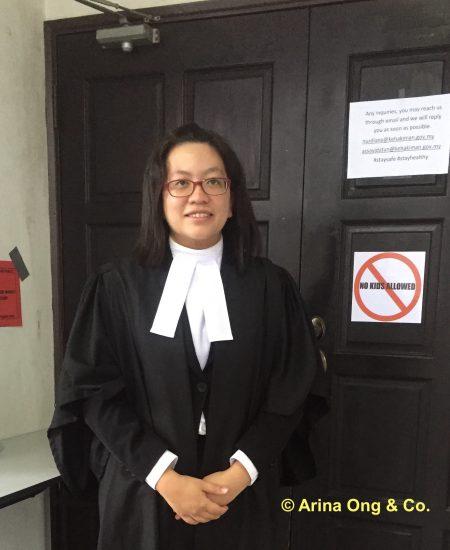 Lawyer Arina Ong